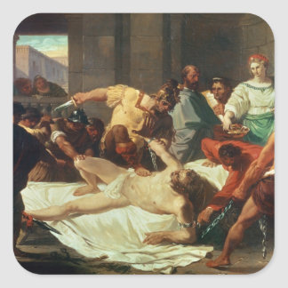 Samson betrayed by Delilah (oil on canvas) Sticker