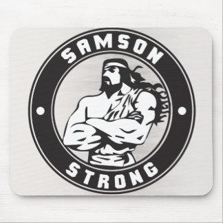 Samson fuerte - escudo del Bodybuilding Tapetes De Ratones