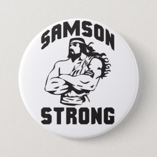 Samson Strong - Bodybuilding Pinback Button