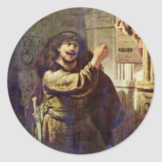 Samson Threatened His Father - By Rembrandt Harmen Stickers