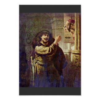 Samson Threatened His Father - By Rembrandt Posters