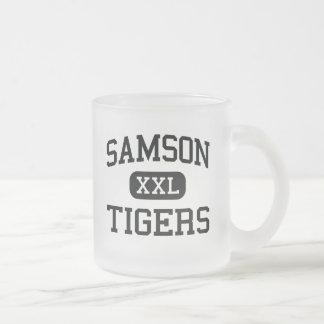 Samson - Tigers - High School - Samson Alabama Frosted Glass Coffee Mug