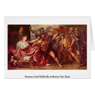 Samson y Dalila de Anthony Van Dyck Tarjeta De Felicitación