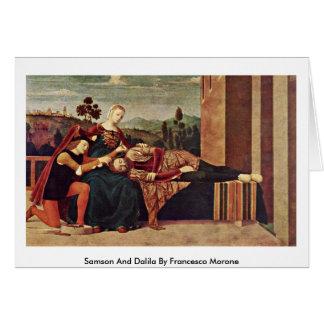 Samson y Dalila de Francesco Morone Tarjeta De Felicitación