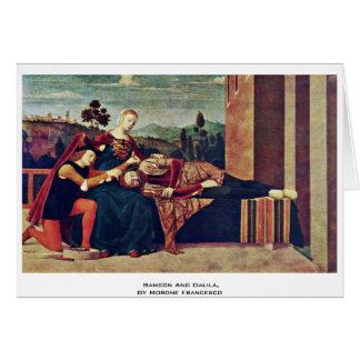 Samson y Dalila, por el Morone Francisco Tarjeta De Felicitación
