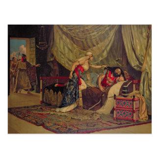 Samson y Delilah 2 Tarjeta Postal