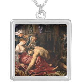 Samson y Delilah, c.1609 Colgante Cuadrado