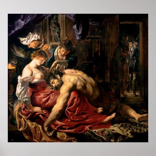Samson y Delilah, c.1609 Impresiones