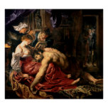 Samson y Delilah, c.1609 Póster