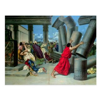 Samson y Delilah Postal