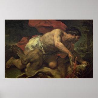 Samson y el león póster