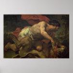 Samson y el león posters