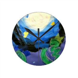 SamspirationArt -Nightscape Round Clock