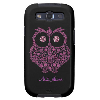 SAMSUNG 3 Case OWL LOVER Pink BLING Samsung Galaxy SIII Cover