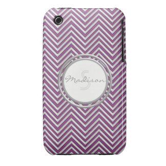 Samsung 3 - Chevron Pattern Modern Stripe Zig Zag iPhone 3 Case-Mate Case