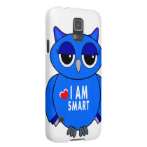 Samsung 5S phone case blue owl cartoon
