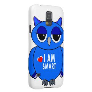 Samsung 5S phone case blue owl cartoon