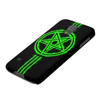 Samsung Elite Green Devil Pentagram Galaxy S5 Covers