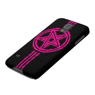 Samsung Elite Pink Devil Pentagram Galaxy S5 Covers