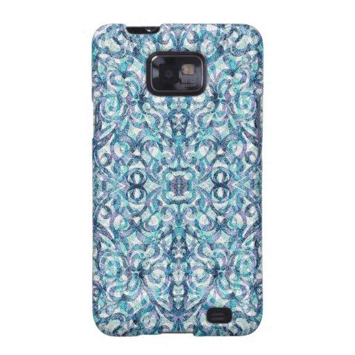 Samsung encajona el fondo abstracto floral galaxy SII carcasa