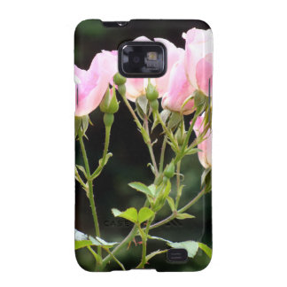 Samsung encajona rosas rosados del aerosol galaxy SII fundas