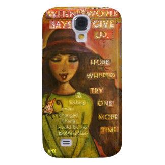 samsung galaxy 4s phone case, whimsical folk art galaxy s4 cover