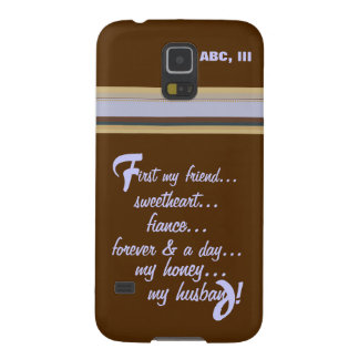 Samsung Galaxy 5 -Forever My Honey My Husband Case For Galaxy S5