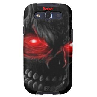 Samsung Galaxy bt - Flesh Skull with Glowing Eyes Samsung Galaxy S3 Case