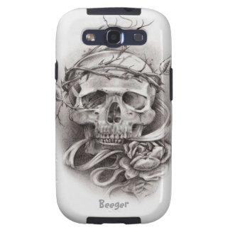 Samsung Galaxy bt - Skull with Crown of Thorns Galaxy SIII Case