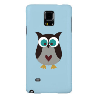 Samsung Galaxy Case - Light Blue with Owl