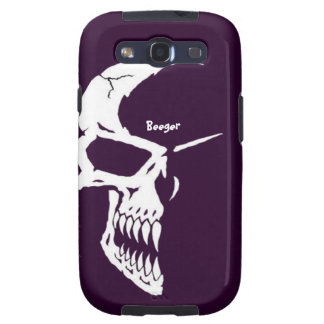 Samsung Galaxy case - Skull Half Face Galaxy SIII Case