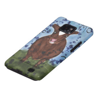 Samsung Galaxy Case with Watercolor Cow Painting Galaxy SII Cases
