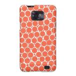 Samsung Galaxy Cases, Orange polka dots Galaxy SII Cover