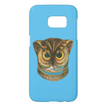 Samsung Galaxy cover Owl vintage illustration