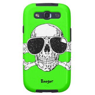 Samsung Galaxy - Loathing Skull with Sunglasses Samsung Galaxy SIII Cases