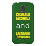 KEEP CALM and PLAY GAMES  Samsung Galaxy Nexus Cases