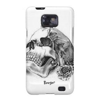 Samsung Galaxy - Pencil Tattoo Skull and Roses Samsung Galaxy SII Case
