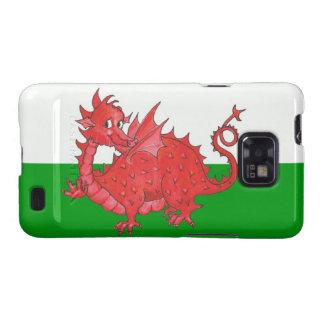 Samsung Galaxy S2 Case, Cute Welsh Red Dragon