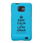 [Crown] keep calm and love omar  Samsung Galaxy S2 Cases