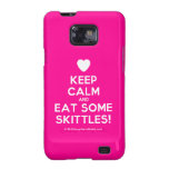 [Love heart] keep calm and eat some skittles!  Samsung Galaxy S2 Cases