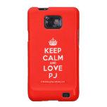[Crown] keep calm and love pj  Samsung Galaxy S2 Cases