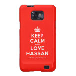 [Crown] keep calm and love hassan  Samsung Galaxy S2 Cases