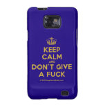[Dancing crown] keep calm and don't give a fuck  Samsung Galaxy S2 Cases