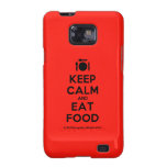 [Cutlery and plate] keep calm and eat food  Samsung Galaxy S2 Cases