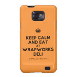 [Crown] keep calm and eat at wrapworks deli  Samsung Galaxy S2 Cases