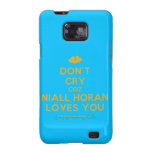 [Two hearts] don't cry coz niall horan loves you  Samsung Galaxy S2 Cases