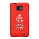 [Crown] keep calm and make lovr  Samsung Galaxy S2 Cases
