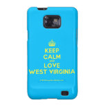 [Crown] keep calm and love west virginia  Samsung Galaxy S2 Cases