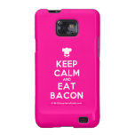 [Chef hat] keep calm and eat bacon  Samsung Galaxy S2 Cases
