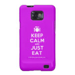 [Cutlery and plate] keep calm and just eat  Samsung Galaxy S2 Cases